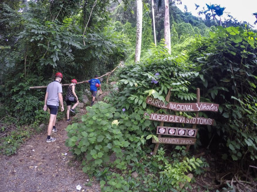 Start of the big climb up to Santo Tomas Caves Vinales Cuba