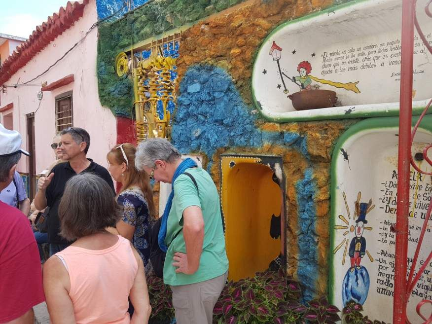 Artwork at Callejon de Hamel Havana Cuba