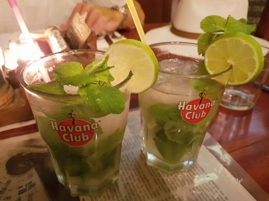 Free Mojito with main meal at La Redaccion Restaurant Trinidad Cuba