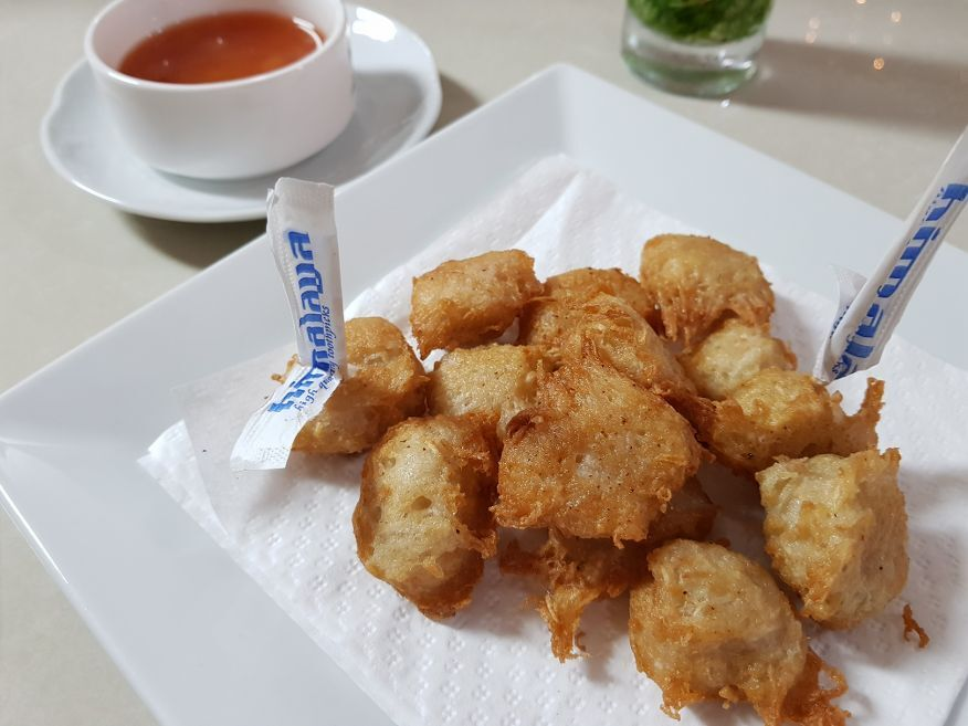 Free starter was yummy at Villa Maria Restaurant Cienfuegos Cuba