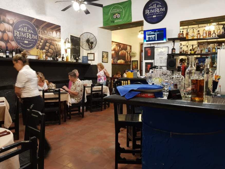 Inside El Rum Rum Restaurant Old Havana Cuba