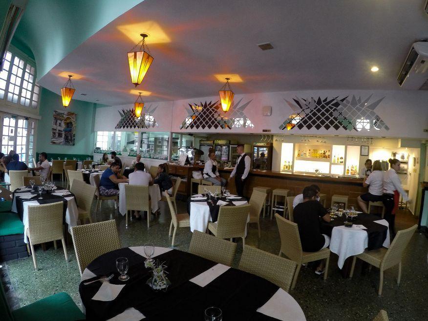 Inside La Pina de Plata Restaurant Old Havana
