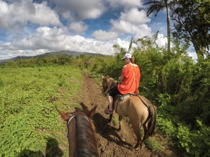 Lovely views along the way Horse Ride Tour to Waterfalls Trinidad Cuba