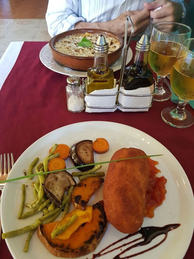 Our dinner at El Olivo Restaurant Vinales-Cuba