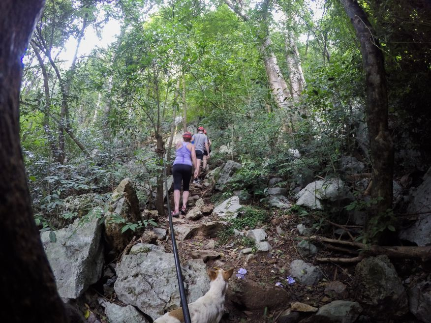 Steep climb to the entrance of Santo Tomas Caves Vinales Cuba