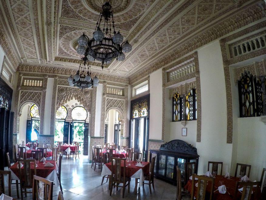 The restaurant Palacio de Valle Cienfuegos Cuba