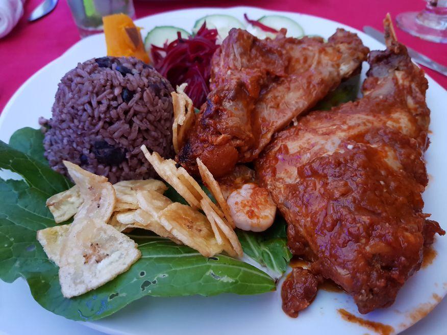 Yummy Rabbit dish at Dona Nora Restaurant Cienfuegos Cuba