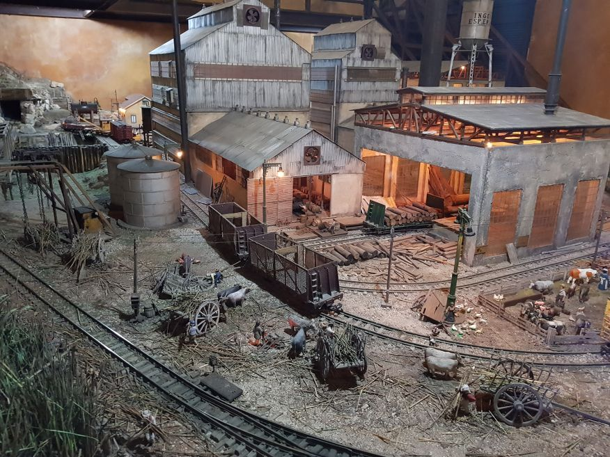 Excellent model of the sugarcane factory at Rum Museum in Havana Cuba
