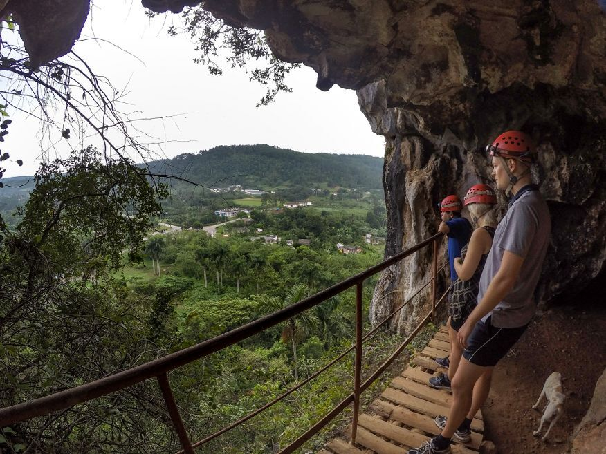 Great view from the entrance to Santo Tomas Caves Vinales Cuba