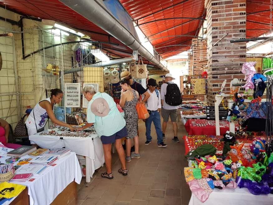 Handicraft markets Obispo St Old Havana Cuba
