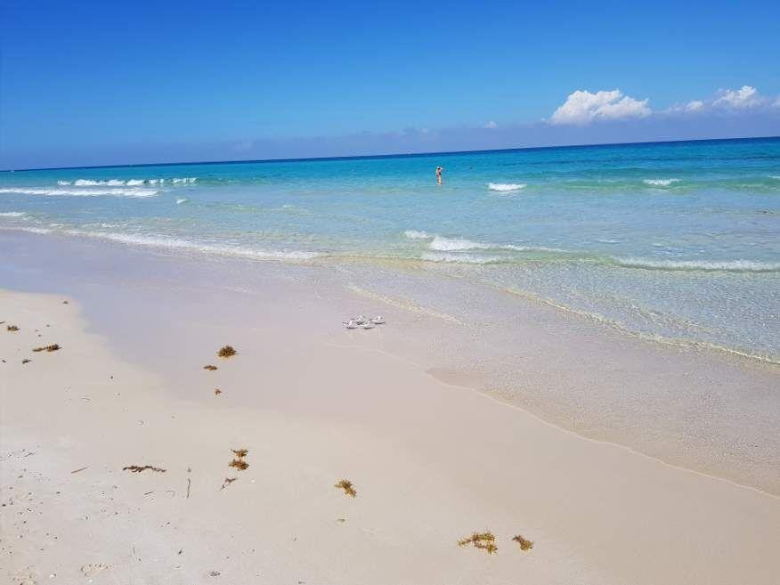 Lovely white sand beach at Playas del Este Havana Cuba