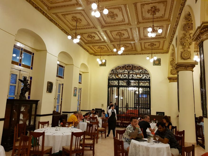 Main restaurant at Hotel Inglaterra Havana