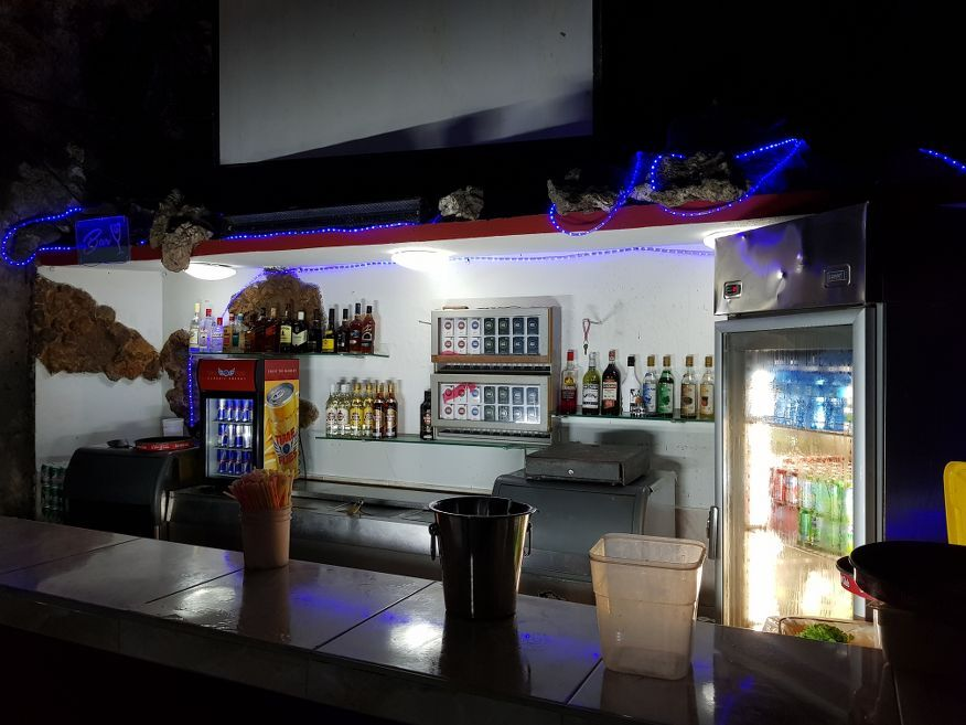 One of the bars at Disco Ayala in a cave Trinidad Cuba