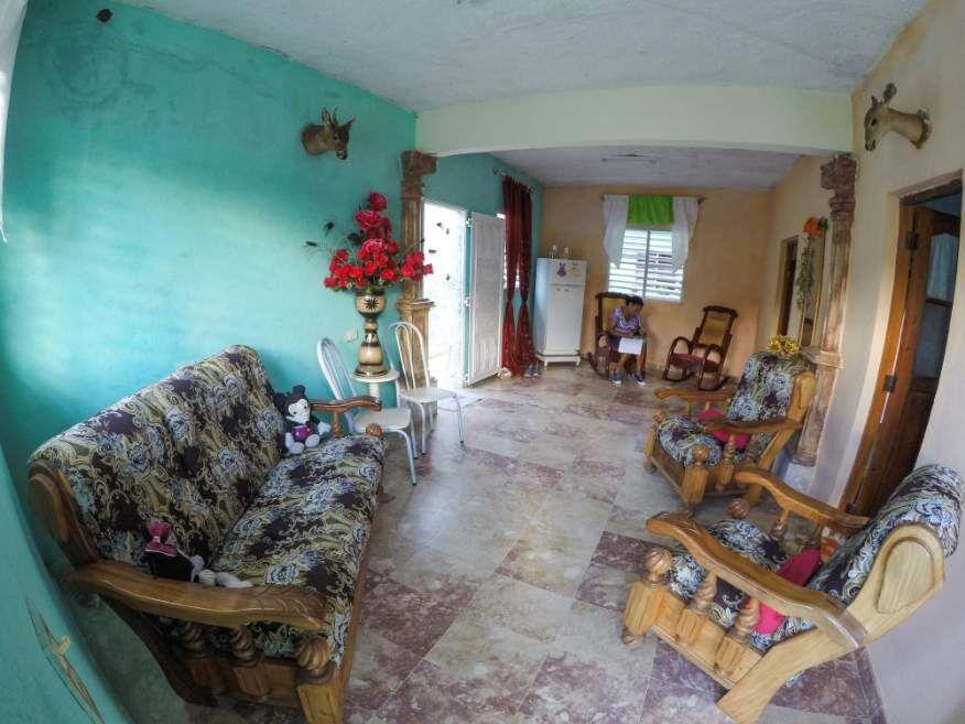 Shared lounge at Casa Orula Chango Trinidad Cuba
