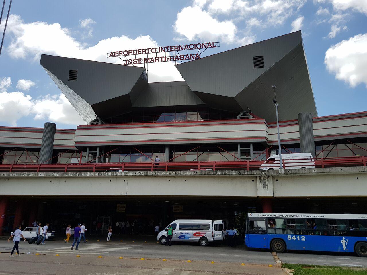 Airport in Havana Cuba