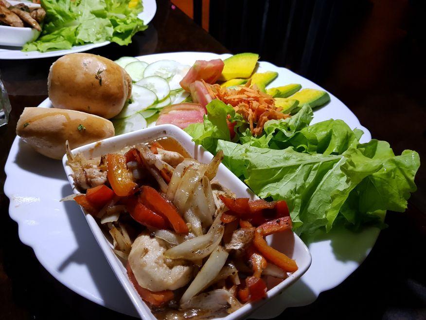 Chicken Pimento at El Chanchullero Restaurant Old Havana Cuba