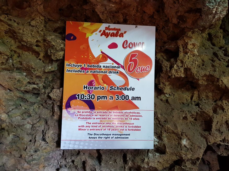 Disco Ayala in a cave Trinidad Cuba