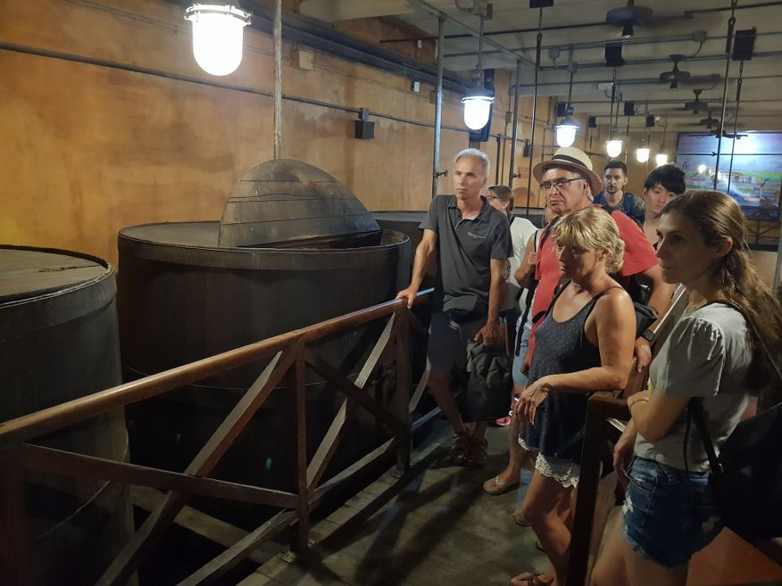 Fermenting barrels at the Rum Museum in Havana Cuba