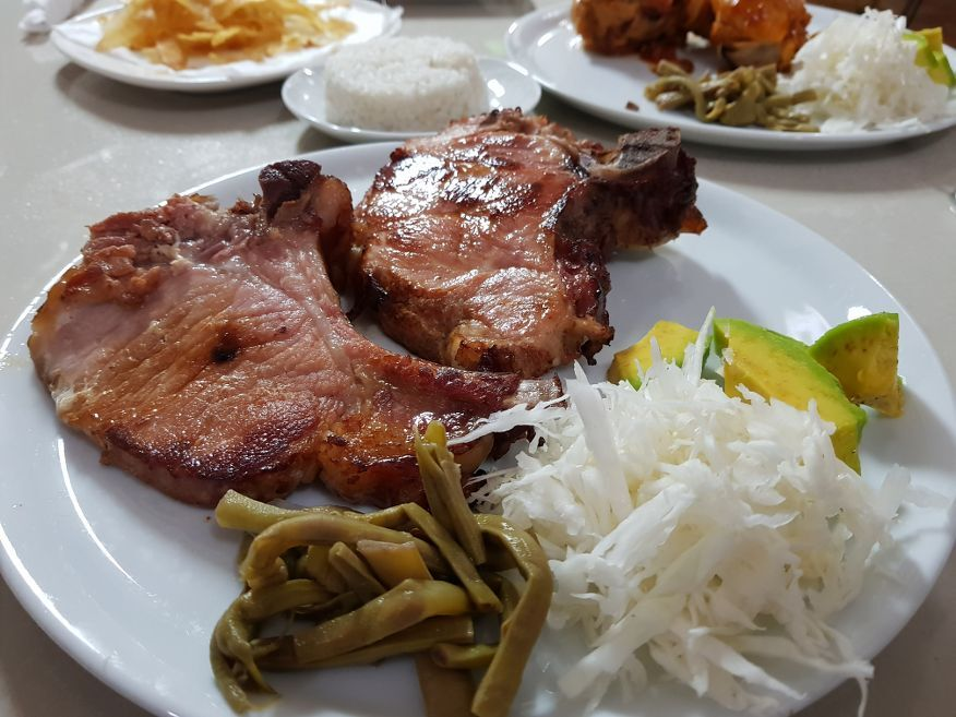 His massive Smoked Pork dish at Villa Maria Restaurant Cienfuegos Cuba