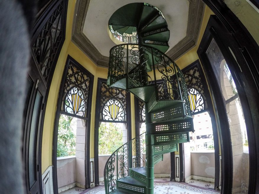 Last stairs to the top Palacio de Valle Cienfuegos Cuba