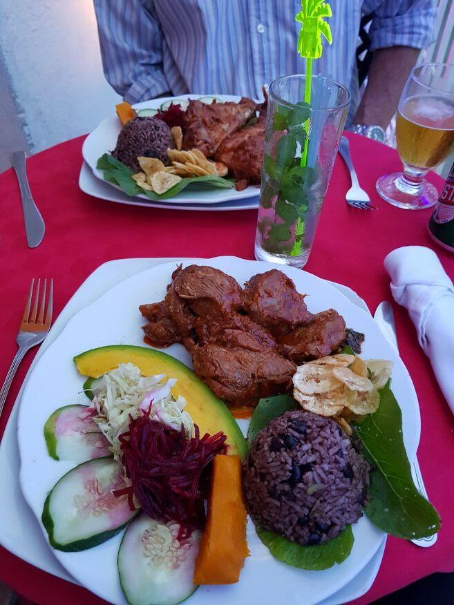 Our meals at Dona Nora Restaurant Cienfuegos Cuba