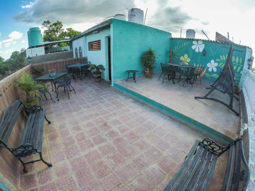 Roof top dining at Casa Orula Chango Trinidad Cuba