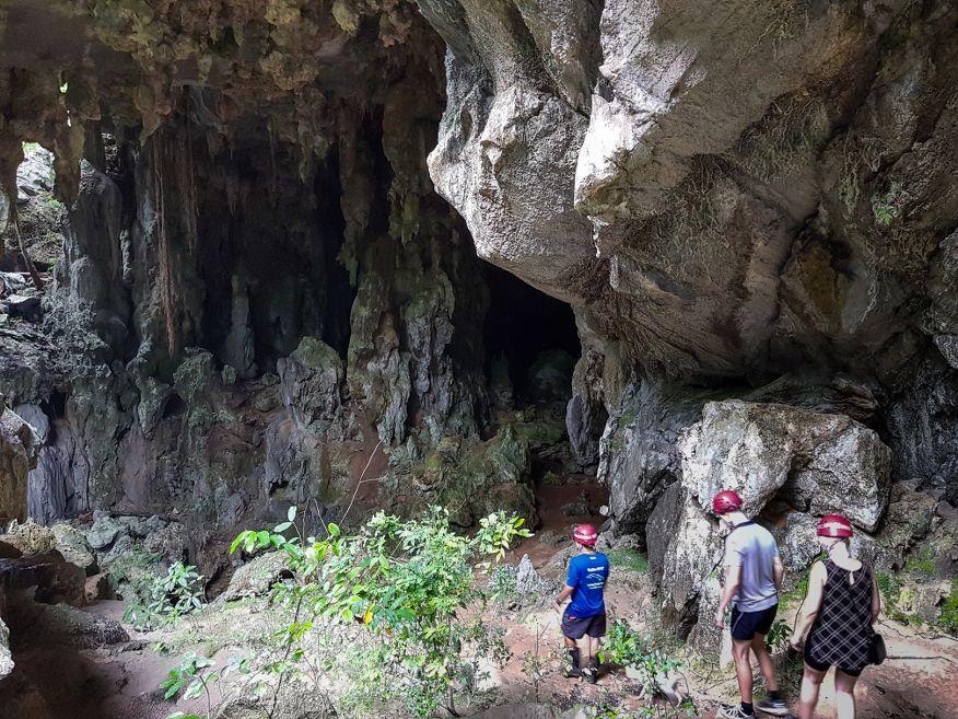 Short walk down into the Santo Tomas Caves Vinales Cuba