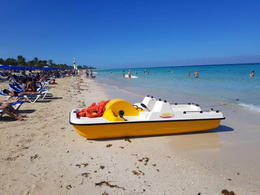The beach at Playas del Este Havana Cuba