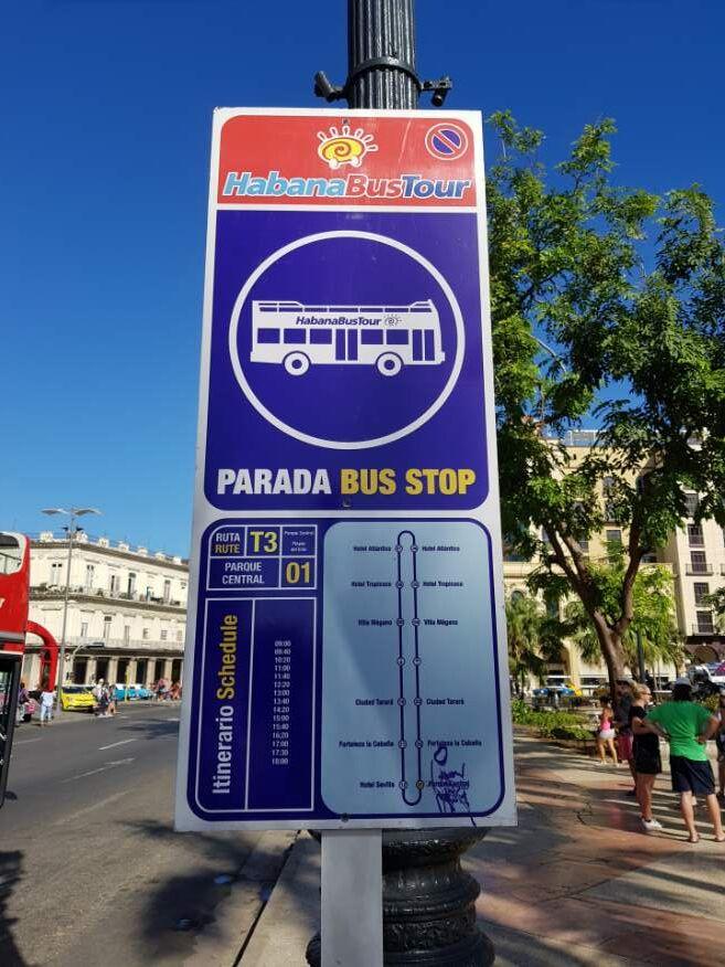 Departing Havana timetable to Playas del Este beach, Havana Cuba