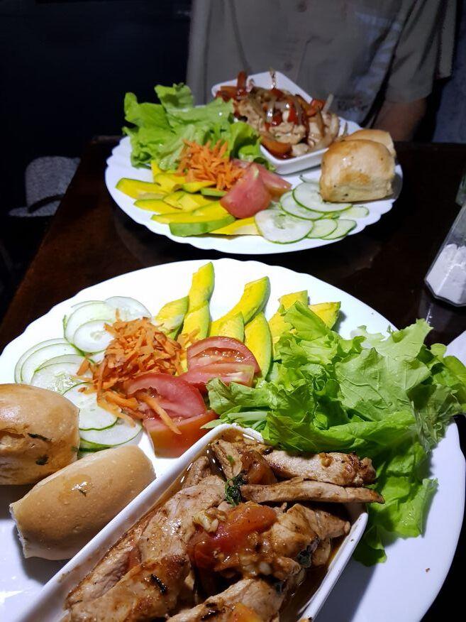 Our delicious meals at El Chanchullero Restaurant Old Havana Cuba