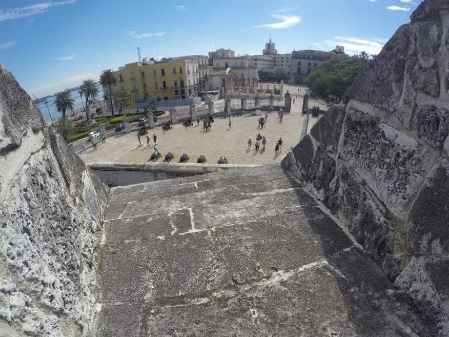 View from Castle of the Royal Force Fort Old Havana Cuba