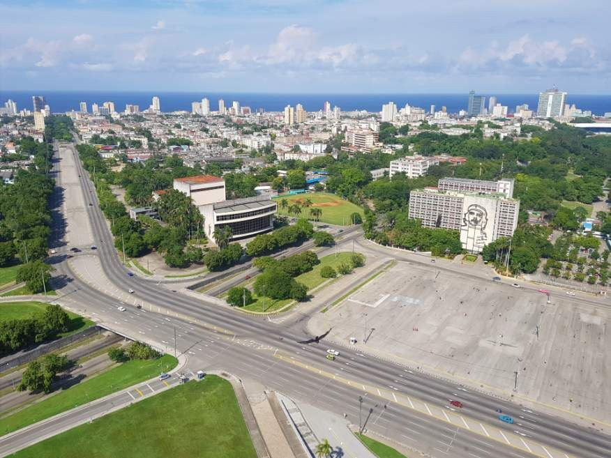 View from the top of the Jose Marti Monument Tower Havana