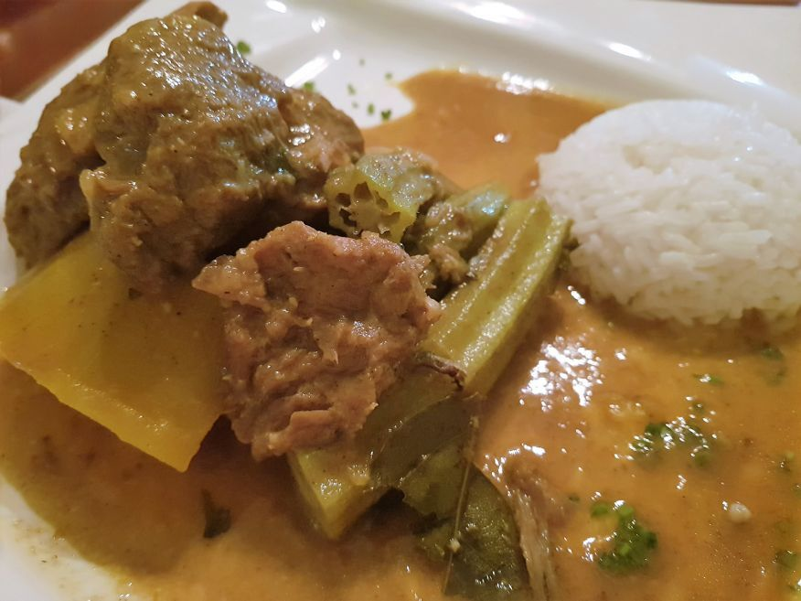 Caribbean Lamb Curry at La Redaccion Restaurant Trinidad Cuba