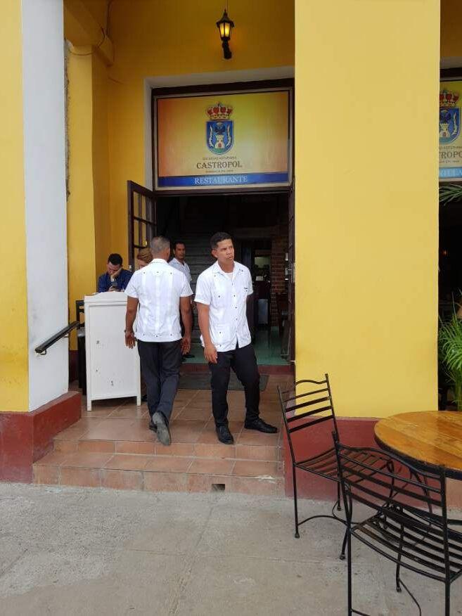 Front of Castropol Restaurant Havana Cuba