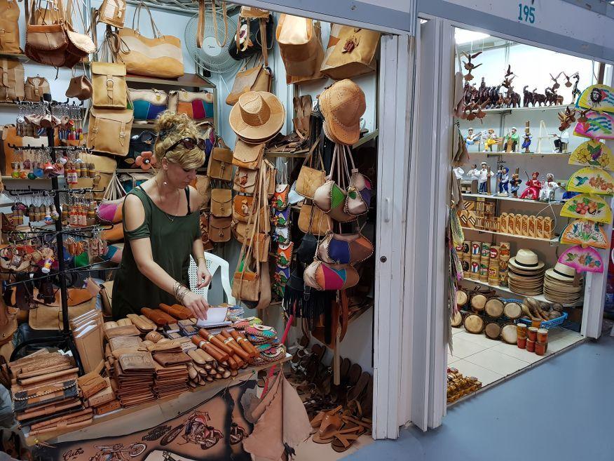 Local seller at the handicraft markets Havana Cuba