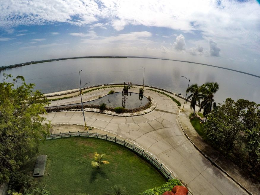 View of Punta Gorda from the top of Palacio de Valle Cienfuegos Cuba