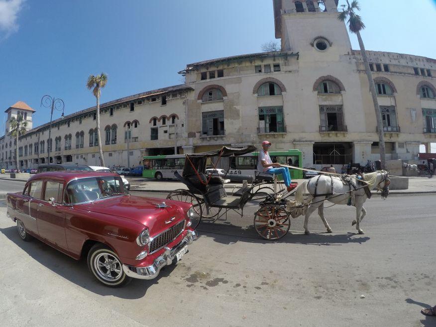Photo taken outside the Rum Museum in Havana