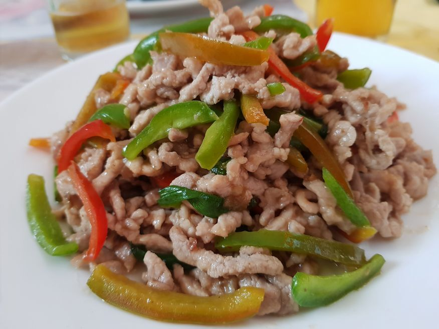 Shredded Pork and Peppers at Tien Tan Restaurant Havana Cuba
