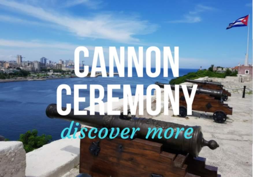 Cannon ceremony at La Cabana Fort in Havana