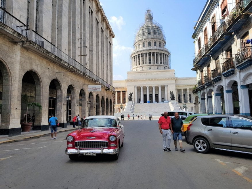 The Capitol Building in Central Havana.