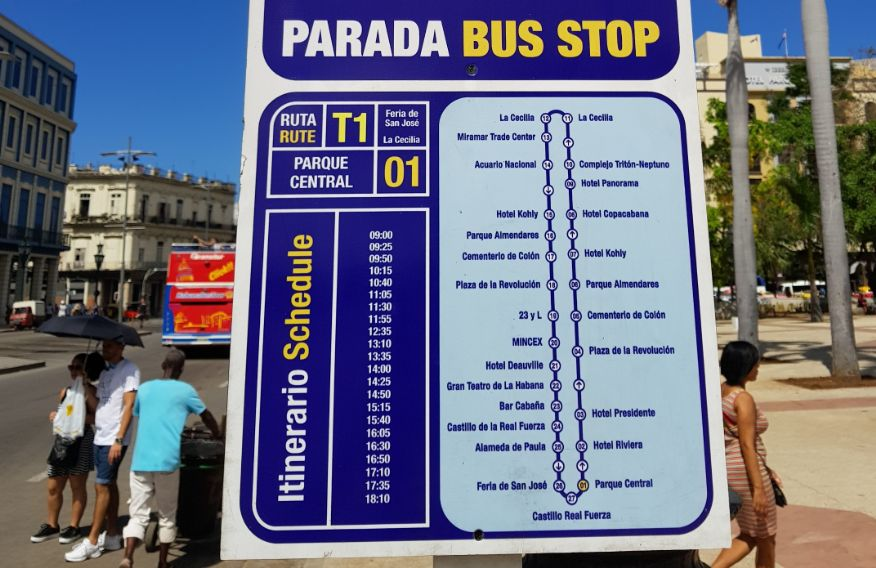 Habana Bus Tour - Timetable