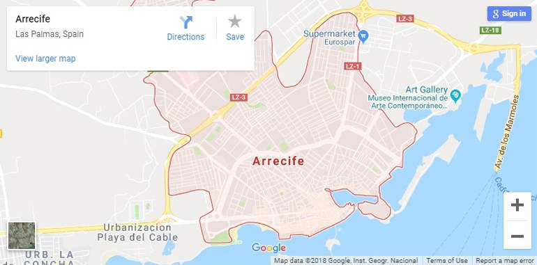 arrecife-google-map