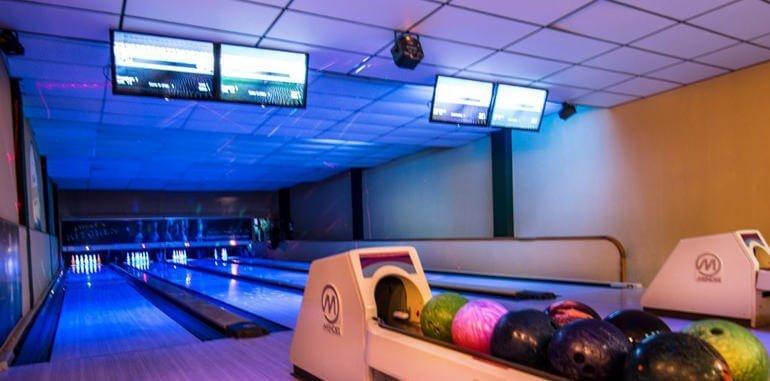 Bowling Lanes at Friends Kitchen Ibiza