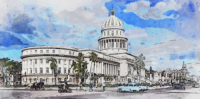 cuba-havana-attraction-capitol-building-illustration