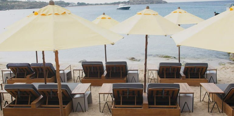 Outdoor Beach Seating @ Avli Tou Thodori Restaurant