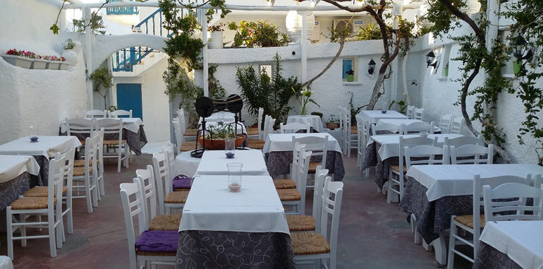 Outdoor Seating @ Eva's Garden Restaurant