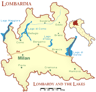 Maps of Milan: Lombardy