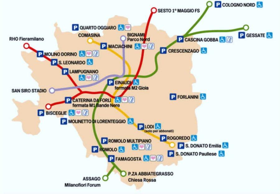 Milan Metro Maps