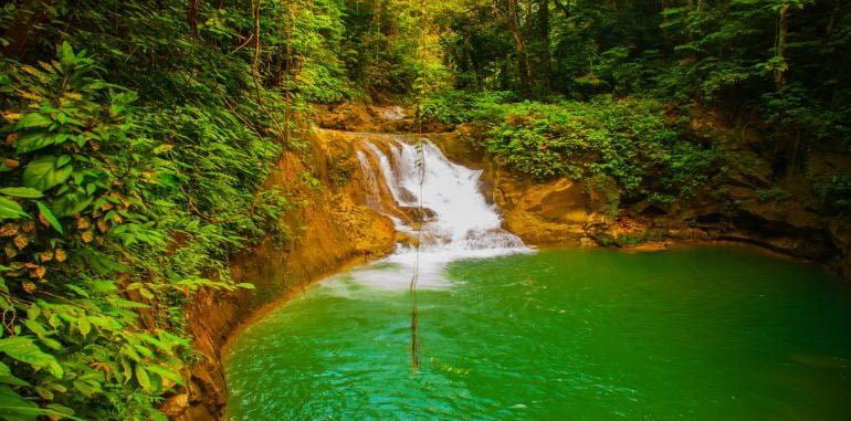 philippines-bohol-attraction-mag-aso-falls-national-park-beautiful-deep-forest-waterfall-of-green-water