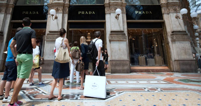 Prada sales in July